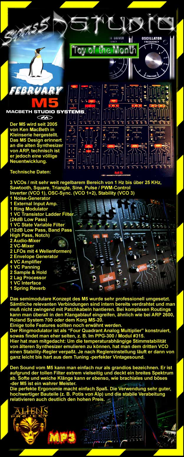 Macbeth m5 synthesizer